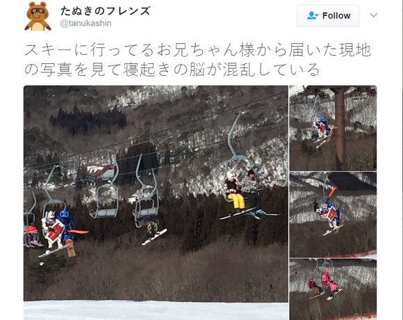 More snowboarding Gundam Mobile Suits spotted in Japan!