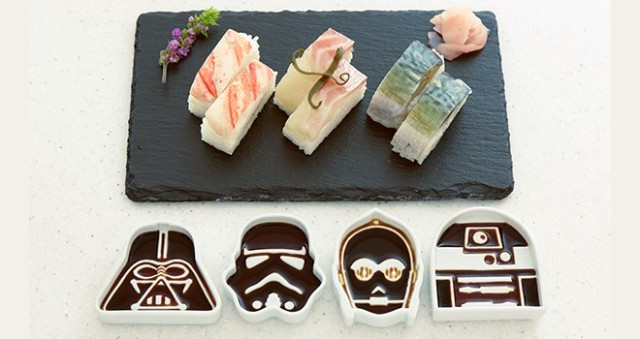 These Star Wars inspired dishes allow you to use the light or dark… spectrum of soy sauce