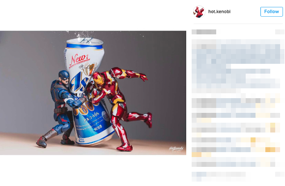 Japanese photographer wows Internet with stunning action shots of superhero figurines