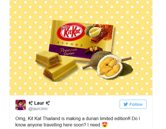 World's smelliest fruit in Kit Kat form? Thailand makes bid for durian-flavoured Kit Kats