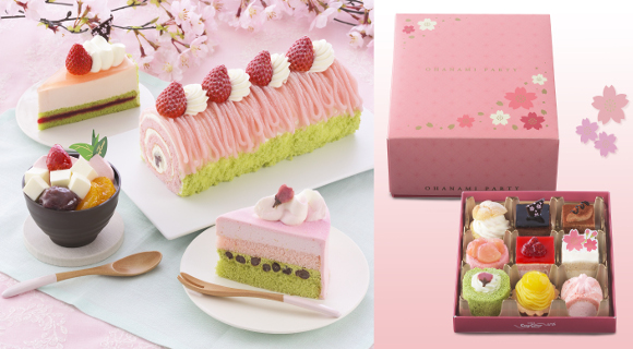 "Ginza Cozy Corner releases ""Hanami Party"" mini cakes and treats for sakura cherry blossom season"