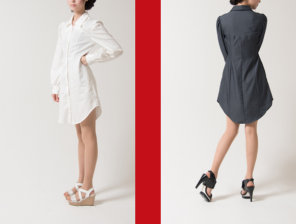 "Stylish Japanese ""boyfriend's dress shirt dresses"" are boyish and girlish all at once"