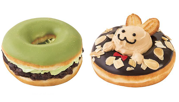 New Krispy Kreme premium range includes sakura and matcha green tea doughnut cakes