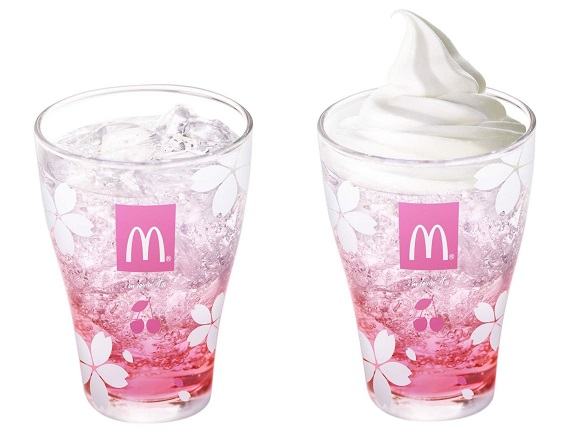 McDonald's Japan doubles down on cherry blossom season with new cherry soda and float