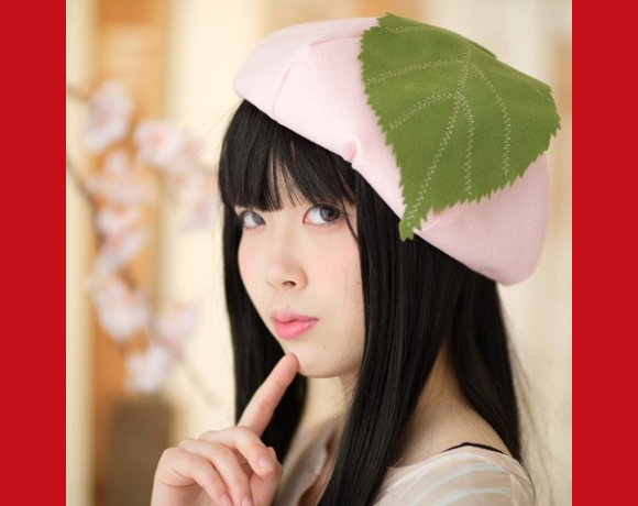 Japan's sakura mochi beret is the sweetest way to top off a cherry blossom-viewing party ensemble