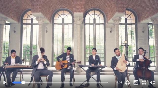 East meets West in Singaporean music group's beautiful rendition of classic Disney songs【Video】