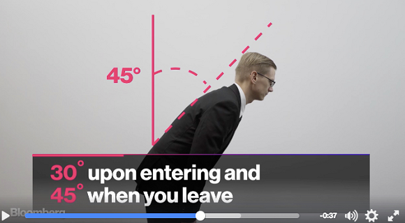 Bloomberg's video makes Japanese business etiquette seem way more complicated than it really is
