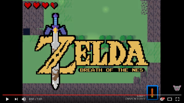 "Awesome ""Zelda: Breath of the NES"" fangame remakes Breath of the Wild NES-style【Video】"