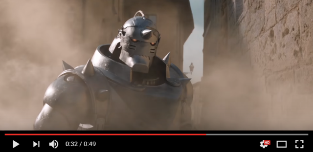 New live-action Fullmetal Alchemist trailer shows off Ed's mechanical arm, brother-in-armor Al