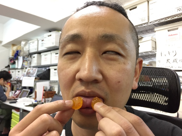 "Mouth-testing Japan's porn-star-approved ""testicle texture"" gummy candies"