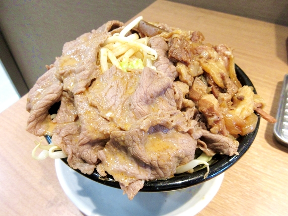 Awesome mountain of meaty goodness now at beef bowl restaurant in Tokyo's Akihabara and Shimbashi