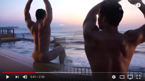 Ibaraki Prefecture promotes onsen hot springs with muscly man bathing in 4K【Videos】