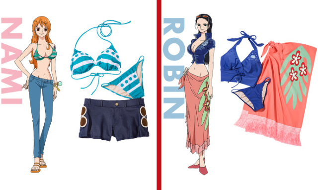 One Piece official lingerie and bikinis: further proof that the pirate anime is for grown-ups too