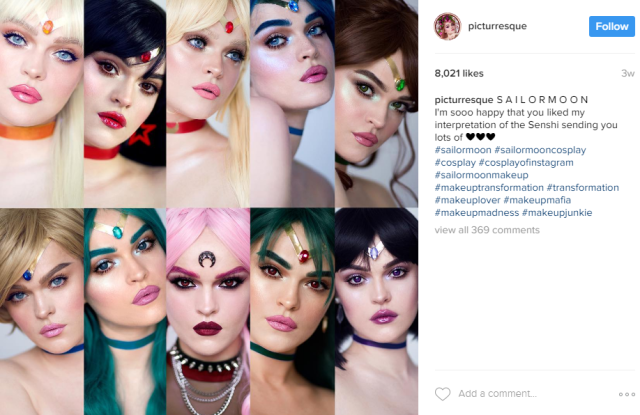 Professional makeup artist does up every single sailor scout from Sailor Moon【Photos】