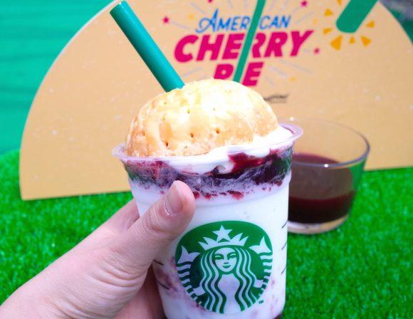 We try Starbucks Japan's new American Cherry Pie Frappuccino