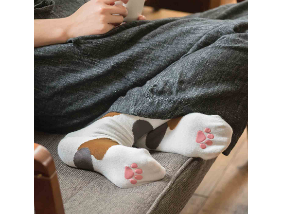 New Kitty Transformation socks from Japan will help keep your feet cute and cats safe