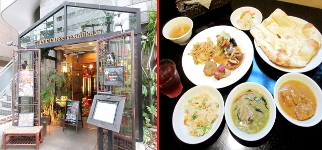 Tokyo restaurant offers all-you-can-eat Indian, Thai, and Chinese lunch buffet for under 10 bucks