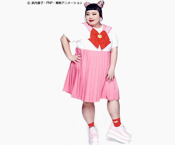 Naomi Watanabe models new Sailor Moon plus-size clothing range in Japan 【Photos】