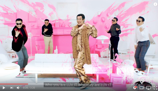 "Piko Taro appears in new music video for ""I Luv It"" by South Korean superstar Psy【Video】"