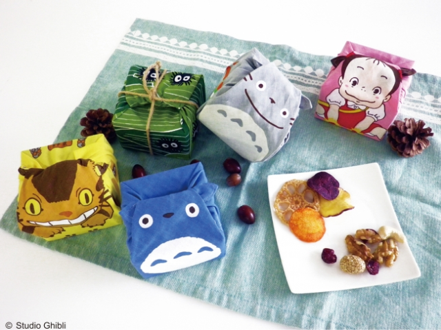 New Studio Ghibli handkerchiefs feature Totoro and the Catbus, and have a surprise wrapped inside