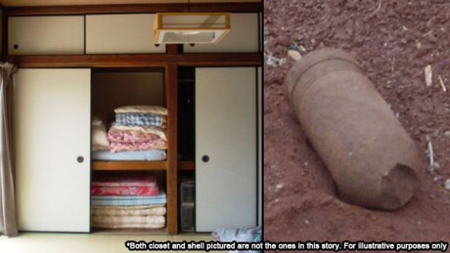 Hiroshima residents find unexploded WWII bomb while cleaning out closet