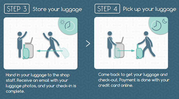 Luggage service lets travelers drop bags at cafes and shops in Japan via English-language website