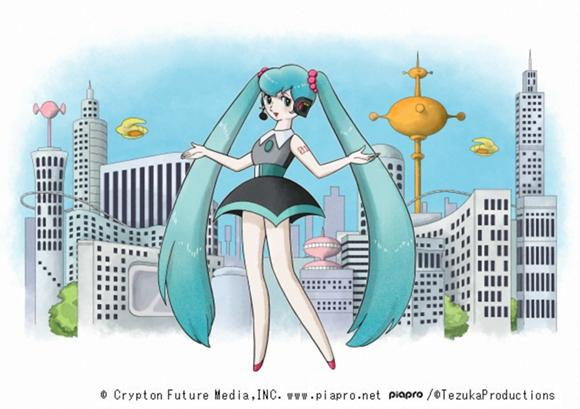 Hatsune Miku goes retro sci-fi with God of Manga-style makeover