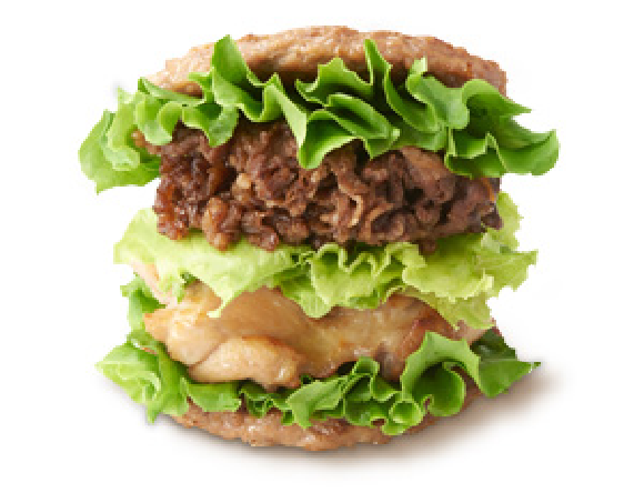 Japanese hamburger chain replaces buns with beef patties for awesomely crazy sandwich