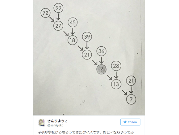 Sinisterly simple math puzzle for elementary school kids stumps Japanese Twitter adults