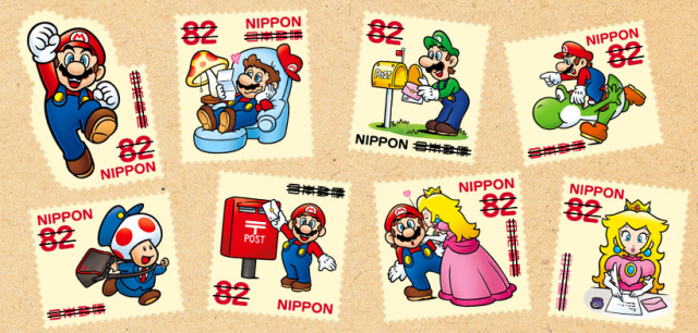 After years of stomping on enemies, Nintendo's Mario becomes a stamp series in Japan