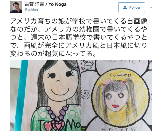 Anime art vs. Western art: The changing face of a Japanese schoolgirl's self-portrait