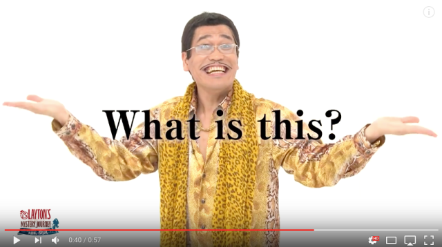 Piko Taro is back with a new Professor Layton puzzle version of PPAP 【Video】