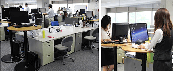 Japanese company bans employees from sitting down while using computers for productivity, health