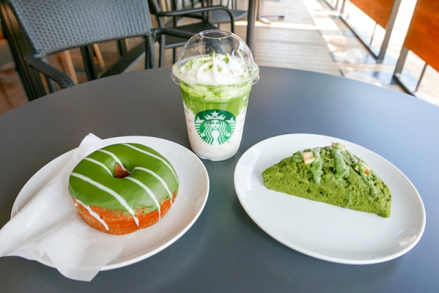 Starbucks Japan releases matcha scones and doughnuts with their new matcha Frappuccino