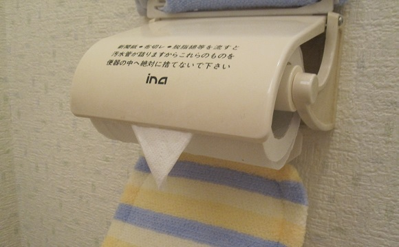 Is Japan's custom of folding the toilet paper into a triangle for the next user unsanitary?
