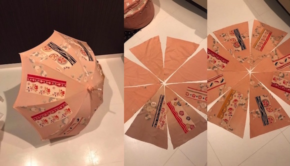 Vintage kimono can now be recycled into beautiful Japanese-style parasols! 【Pics】