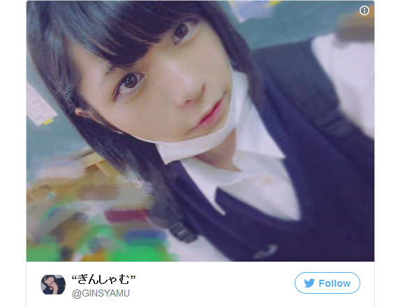 Japanese high school boy wows netizens with his cute girl-next-door looks