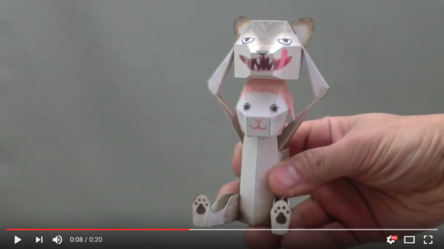 Japanese paper puppets that transform when you touch them have to be seen to be believed 【Videos】