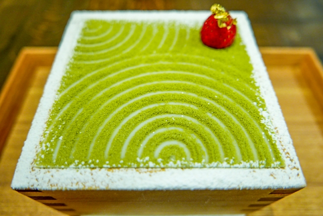 Matcha parfait looks like a Japanese zen garden, hides a treasure trove of secret surprises