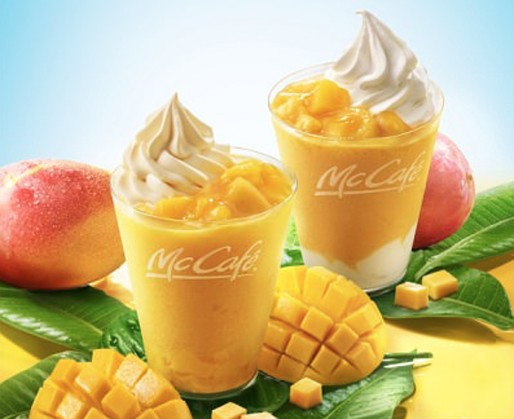 McDonald's adds unusual mango smoothies to their menu in Japan this summer