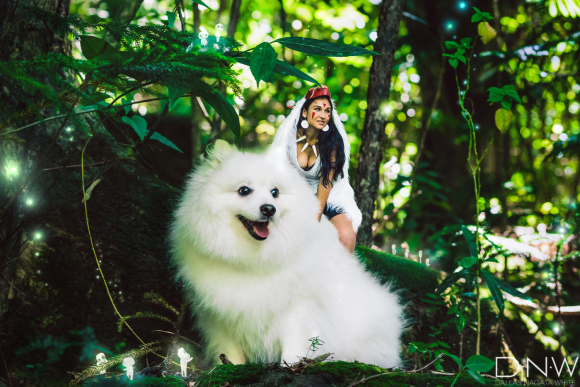 Hawaiian photographer uses own dog in Princess Mononoke cosplay for an overdose of cute 【Pics】