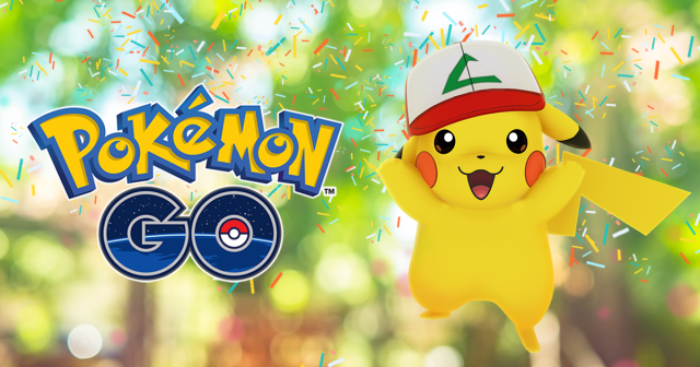 Special Ash cap Pikachu added to Pokémon GO for game's first-birthday celebration