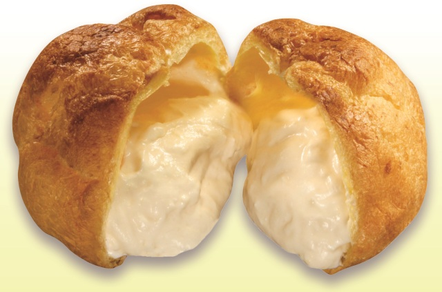 Cream puffs filled with sushi-rice cola now on sale