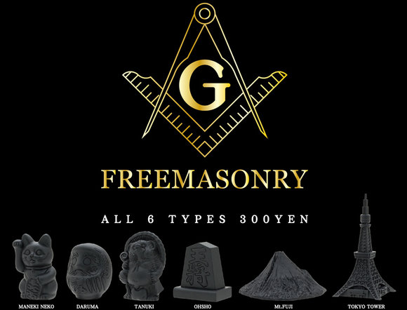 Freemason toys now on sale in Japan
