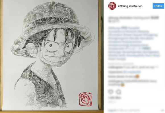 One Piece, Star Wars and other characters come to life with mind-bending art within art 【Photos】
