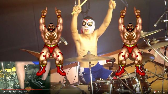 Virtuoso drums the entire game of Street Fighter II, shows us its music was actually pretty good