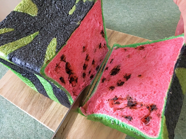 Move over square watermelons – Japan now has square watermelon bread!