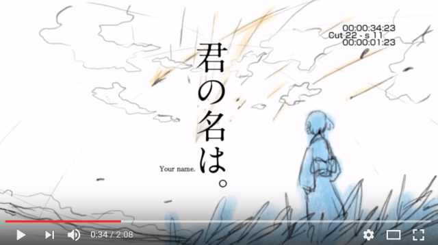 Your Name's animated storyboards show anime phenomenon like you've never seen it before【Video】