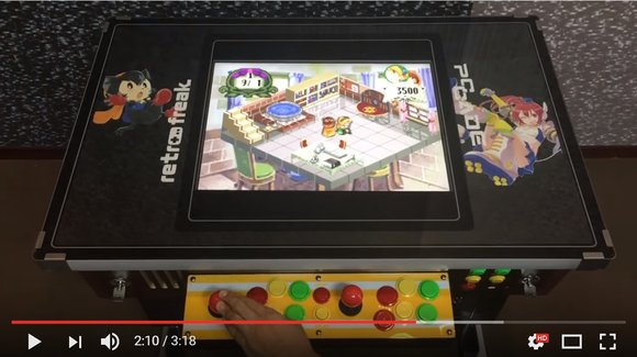 Retro freak classic game console returns in cocktail table form【Video】