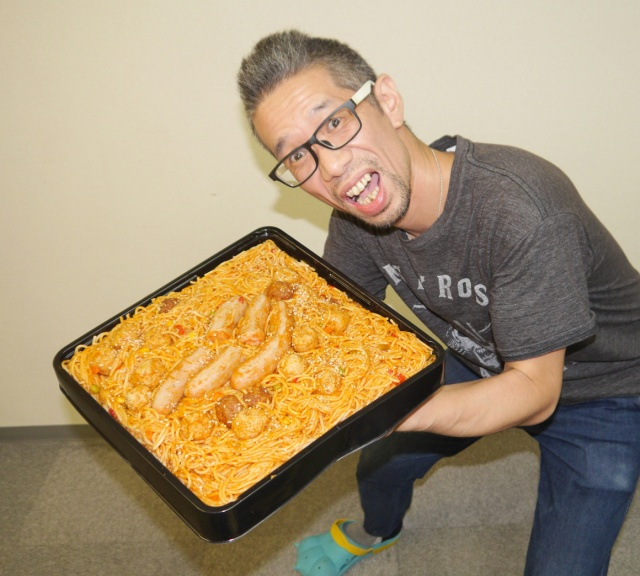 We devour a three-kilogram spaghetti and meatballs obento lunchbox
